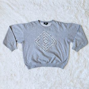 Hunt Club women's large gray vintage pullove